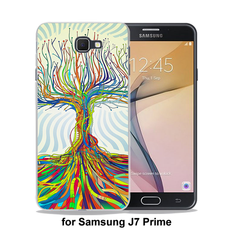 Abstract crazy trippy hippy marijuana hard clear phone case for samsung  galaxy j5(2017) j7(2017) j510 j710 j2 prime j3 2016 j1