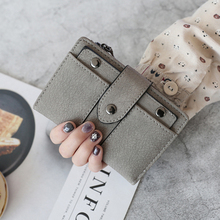 leather Wallet women wallets Woman Short Fund European 2 Fracture Small Change Pu Soft Noodles Hasp Student 2019 purse