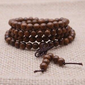 Image 5 - Yanqi di Alta Qualità Tibetano Mala Buddha braccialetto di perline Mara branelli di preghiera perline di legno naturale bracciali uomo braccialetti Del Rosario