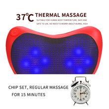 Moledodo Neck Massager Body Physiotherapy Multifunctional Car Cervical Lumbar Waist Massage Cushion D50