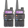 2 unids/lote estrenar baofeng uv-5r interphone vhf 136-174 mhz y UHF 400-520 MHz UV5R Banda Dual de doble Pantalla de Walkie Talkie