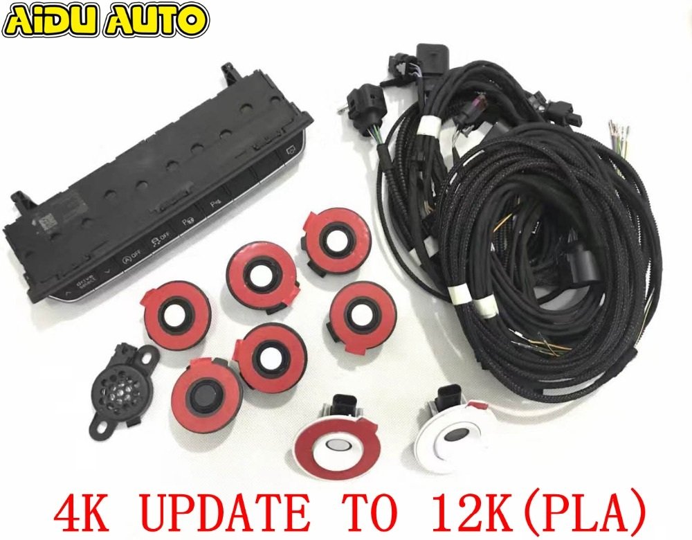 USE FIT FOR Audi A4 A5 B9 8W 4K UPDATE 12K Assist Park Assist Intelligent PLA Auto Parking OPS SYSTEM KIT use fit for golf 6 jetta mk6 auto intelligent parking assist 12k park assist pla 2 0 upgrade ops install harness wire