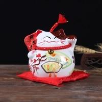 New Design Fortune Cat Ceramic Handicraft Home Decoration Children Gifts Money Boxes Piggy Bank Office Decor