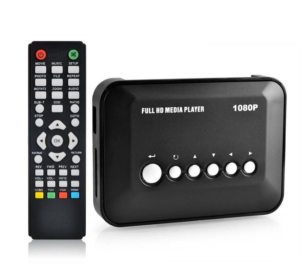 JEDX HD Ad Media player 1080P Full HD Mini Multi-Media Player HDMI 1080P Output USB2.0 Port /SD/SDHC/MMC Card Free Shipping