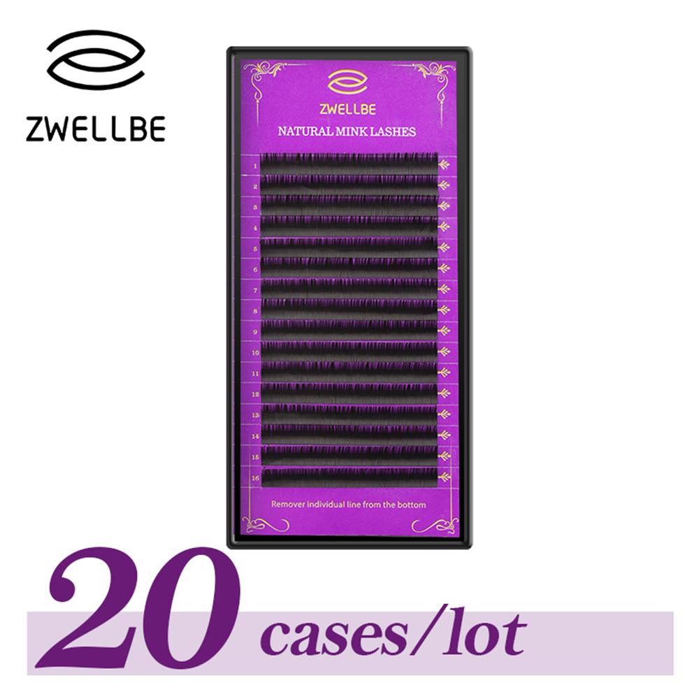 20 Cases Lot Individual Eyelash Extension 8 15mm Length High Quality Natural Eye Lashes Professional Make