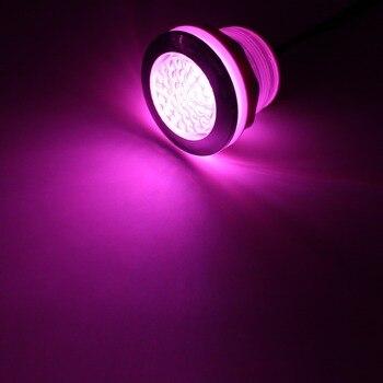 Impermeable RGB bajo el agua LED bañera caliente luz whirlpool agujero lámpara tamaño 53-55-60mm luz LED para balneario 4 cables en 1 cable jacuzzi lámpara