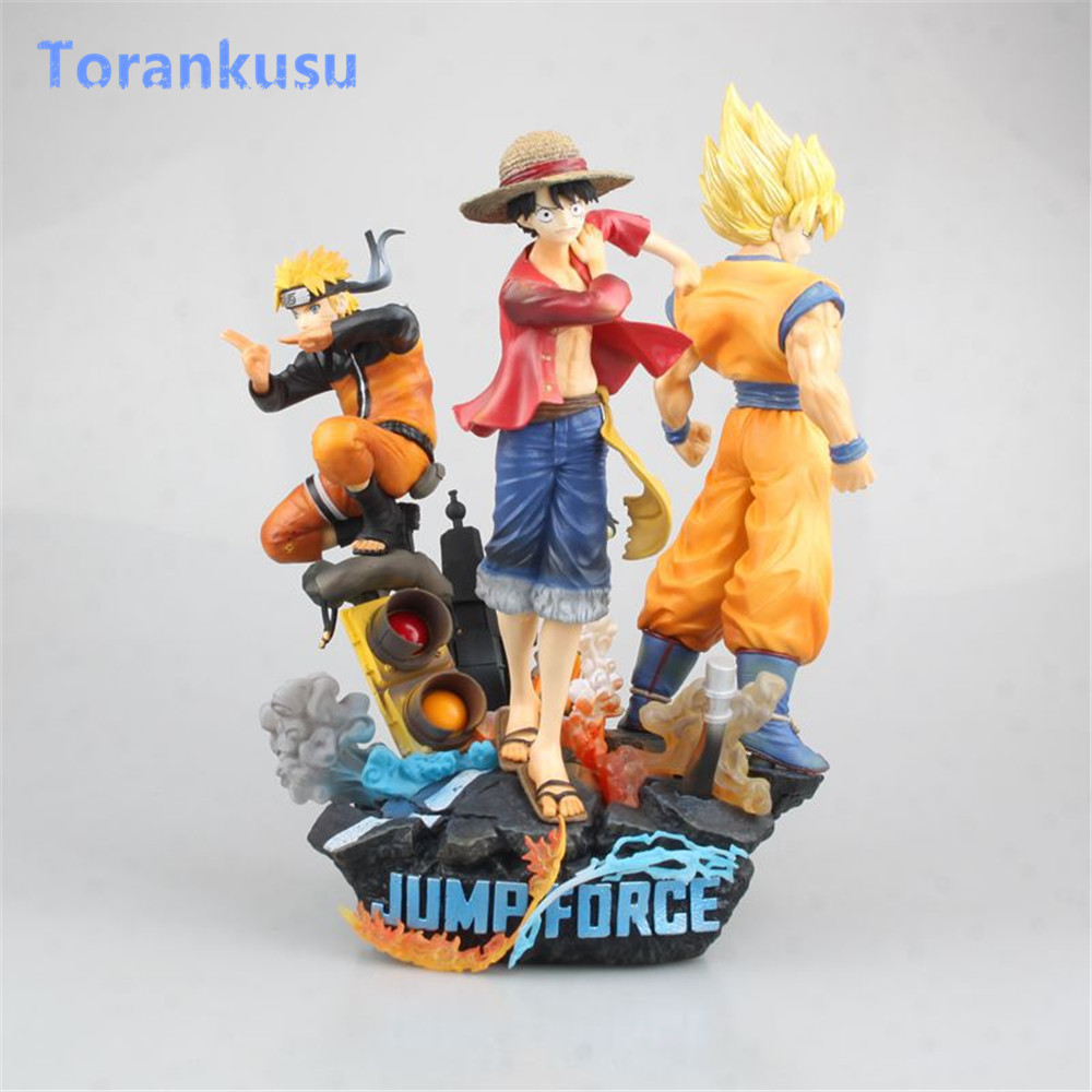 Game Jump Force One Piece Naruto Dragon Ball Action Figure PVC Luffy Goku Naruto Figuras Anime Figure Hot Toys Diorama Model PG image