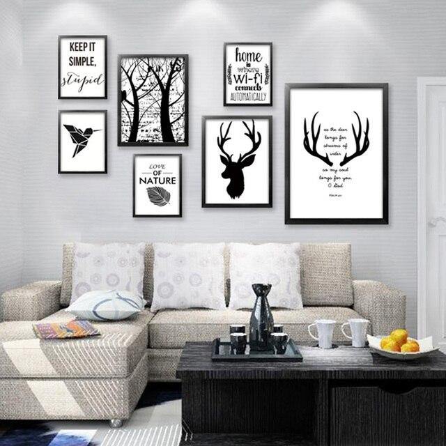 Gut gemocht Sans cadre Moderne Minimaliste Noir Blanc Kawaii A4 Art  NI87
