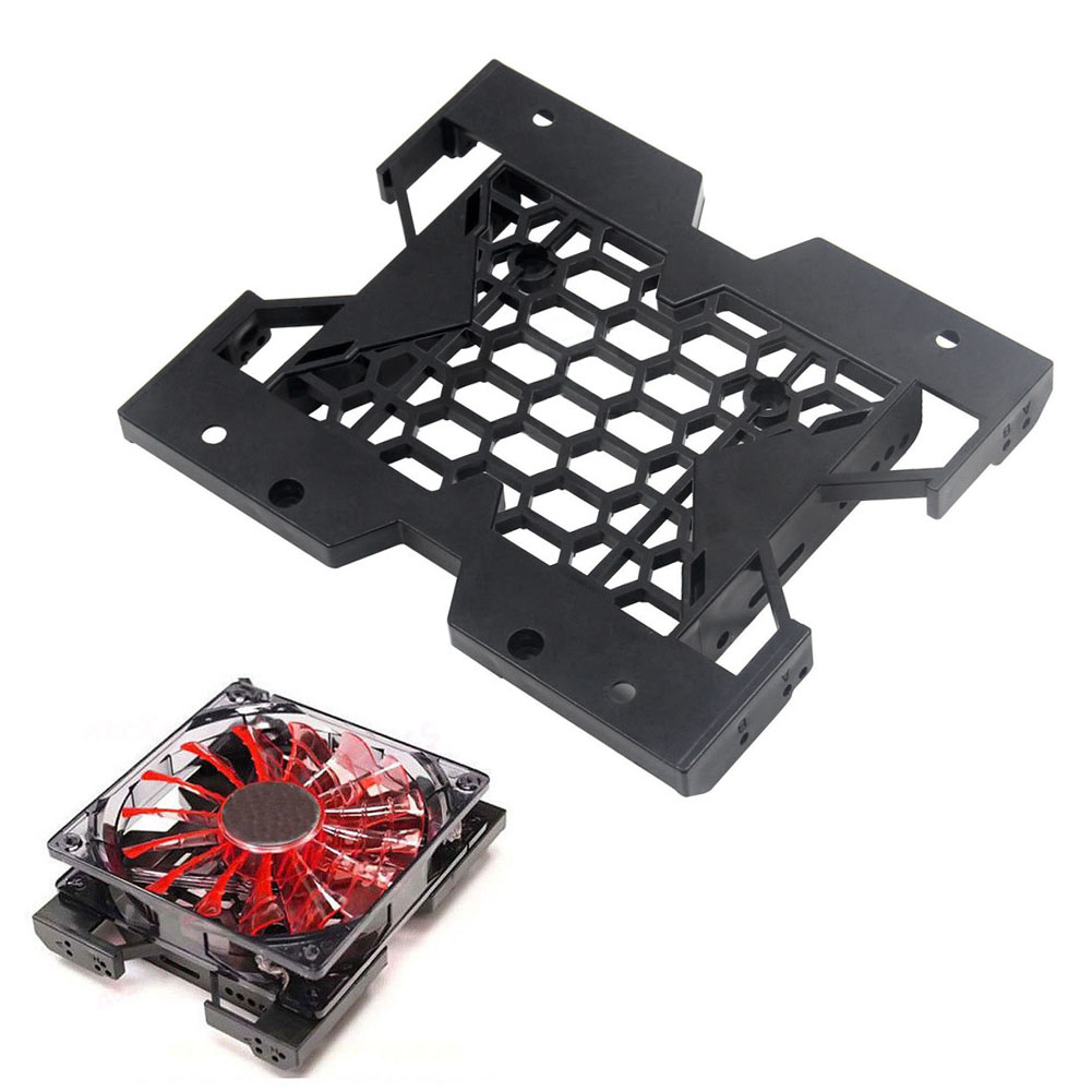 5.25inch to 3.5inch 2.5inch SSD HDD Tray Caddy Case Adapter Cooling Fan Mounting Bracket XXM new high quality bracket tray caddy dustproof dust prevention for hp microserver gen8