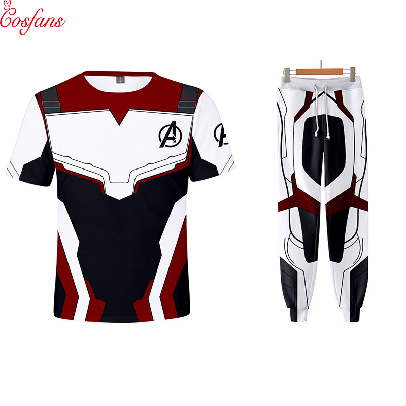 Avengers 4 Endgame Quantum War 3D Printed T Shirts Men Compression Shirt Iron Man Cosplay Costume Long Sleeve Tops Pants For Men