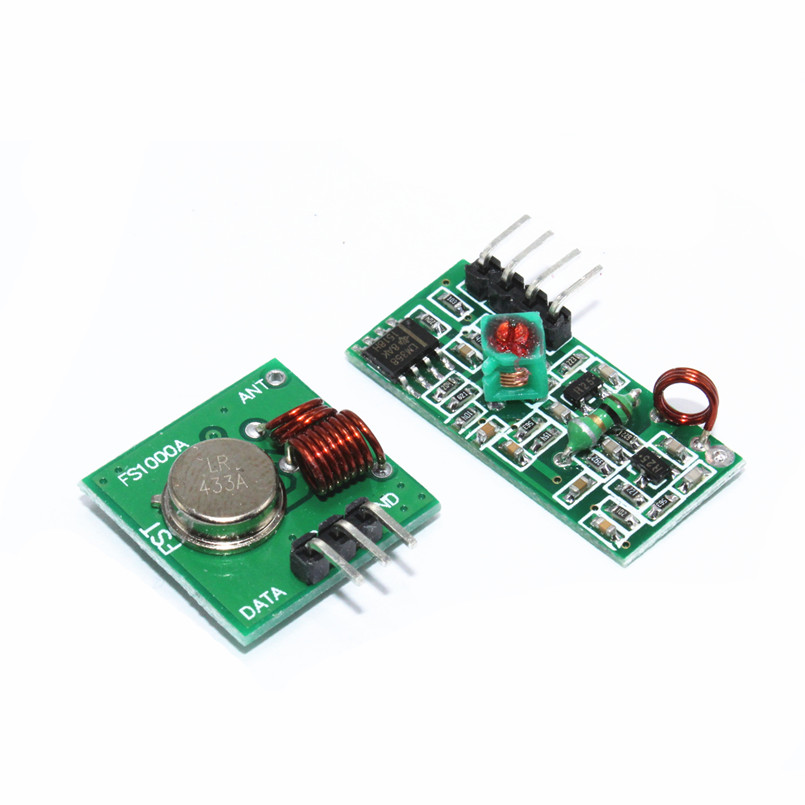2Stücke 433 Mhz Wireless RF Sender Modul Empfänger Alarm Regeneration Arduino ZP