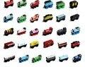 10 unids/lote thomas and friends tren de coches de madera juego completo de coche motor de juguete tren toys