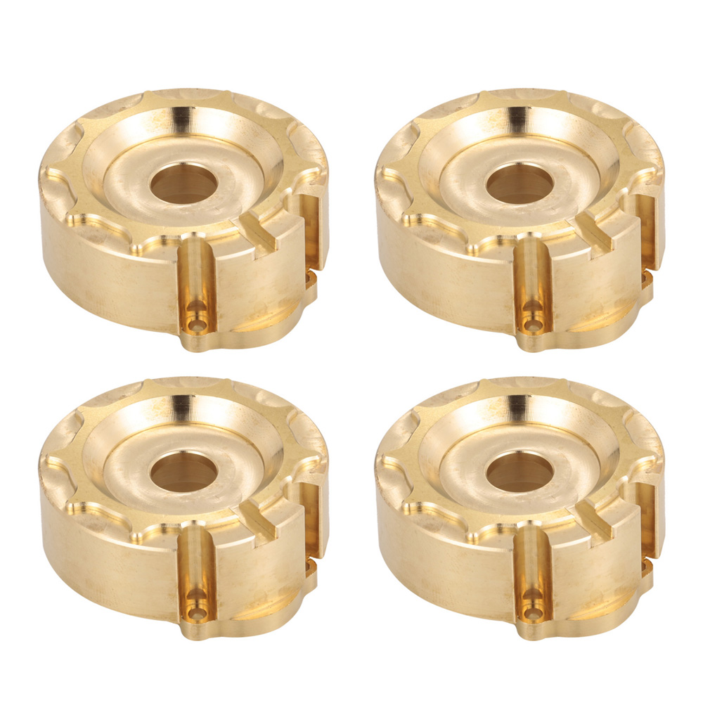 4pcs Brass Counterweight Steering Block Wheel Knuckle Axle Balance Weight for 1/10 RC Traxxas TRX-4 Trail RC Crawler Truck 1 5 1 6 traxxas x maxx steering hub steering knuckle blocks set for rc car 7737 7740 7743 brushless electric monster truck