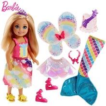 Original Brand Barbie Mermaid Doll Feature Rainbow Lights Princess Dolls Boneca Baby for Girls Children Toys Gift