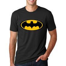 2016 New Fashion Cartoon Batman Printed T Shirts Men's O Neck Short Sleeve Summer Style T-Shirts Casual Streetwear Hip-Hop Tops