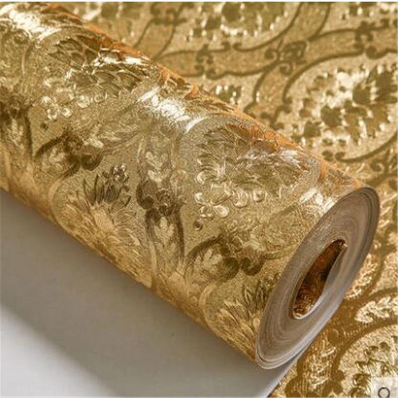 Beibehang Luxury Home Improvement Wallpaper Silver Foil