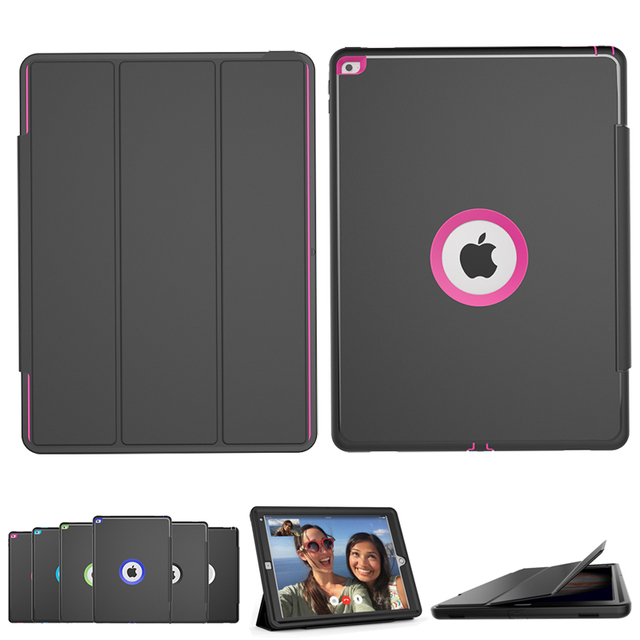 size 40 71db9 34507 US $27.62 26% OFF|Luxury Stand Smart Magnetic Case for Apple iPad Pro 12.9  inch PU Leather Flip Shockproof Cover With built in Screen Protector-in ...