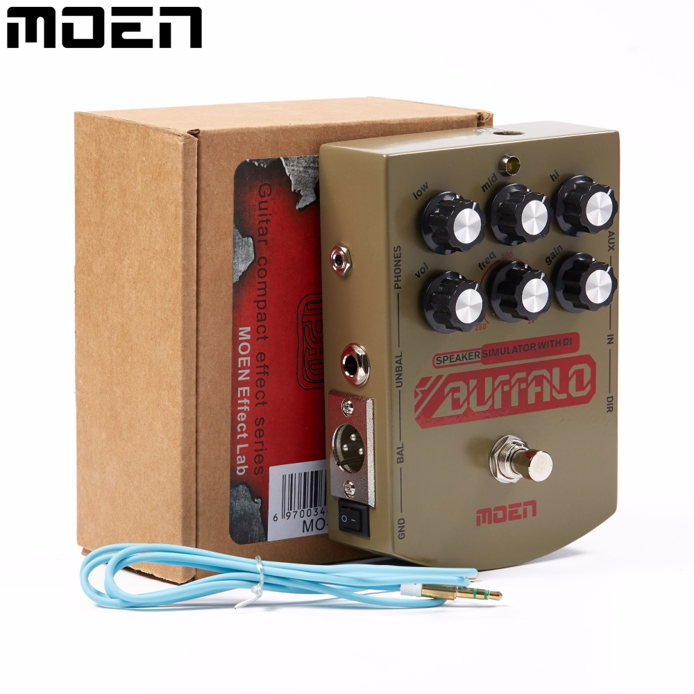 Moen Buffalo Equalizer Effect Pedal Speaker simulator with DI Headphone Ourputs True Bypass for Electric Guitar MO-BA aroma adr 3 dumbler amp simulator guitar effect pedal mini single pedals with true bypass aluminium alloy guitar accessories