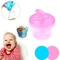 Portátil Do Bebê Infantil Leite Em Pó Recipiente de Alimento 3 Treliça Fórmula Dispensador De Armazenamento Caso Caixa de Alimentação de Plástico Escaninhos