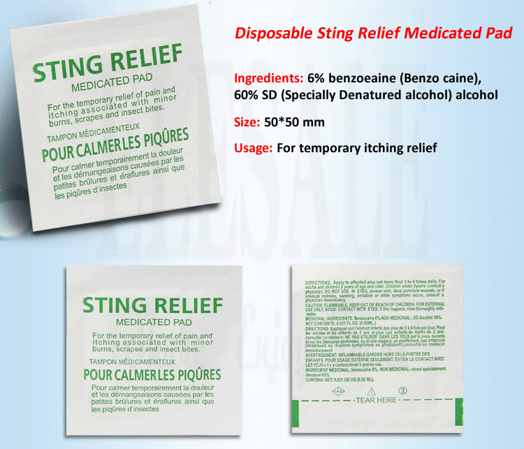 sting-relief-1  10-50-100pcs Out of doors Sting Aid Medicated Pad Insect Mosquito Sting itching Aid For Out of doors Camp Emergency Kits Equipment HTB1dwtSSpXXXXXaapXXq6xXFXXXv