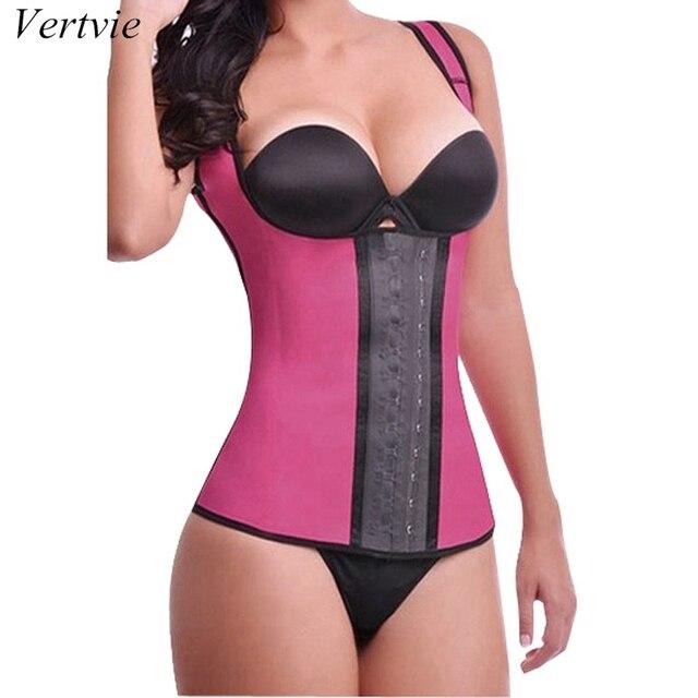 vertvie Women's Sexy Waist Corset Bustier Women Corselet Waist Support Belt Sports Safety Weight Loss Belt Camis Slim Shapewear