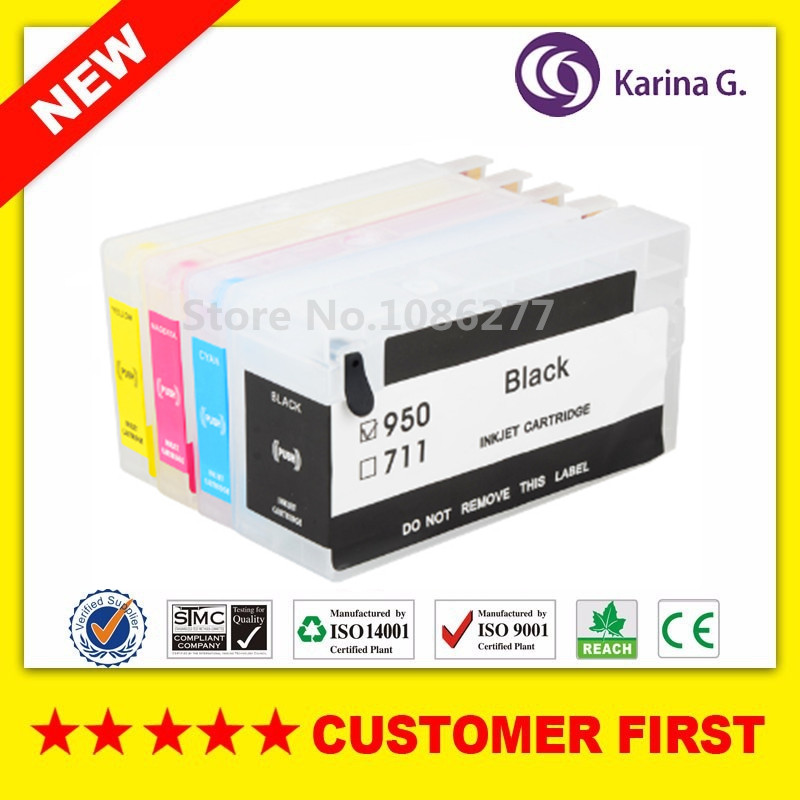 4x Empty Refillable Ink Cartridge For HP950 HP951 suit HP 950 For HP 8610 8620 8630 8660 8680 8615 8625 251DW 276DW With Chip