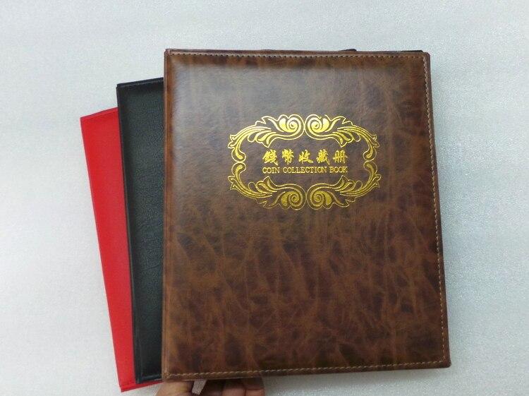 Haute Qualite Pieces Papier Monnaie Collection Livre Pu Cuir Vide 3 Anneaux Collection Album Plus Mis 40 Pcs Feuille Lache 3 Trou Feuille
