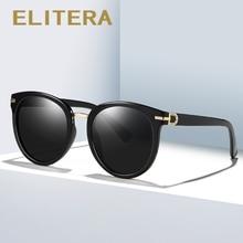 ELITERA Brand Design Female Sunglasses Women Men Round Retro Vintage Sun Glasses Summer Fashion Eyewear UV400