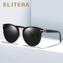 ELITERA lunettes de soleil rondes rétro, Vintage pour femmes et hommes, Design de marque, UV400, été lunettes de mode