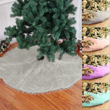 78cm Christmas Tree Skirt Sofa Plush Fur Carpet Xmas Decoration New Year Home Outdoor Decor Event Party Tree Skirts #38(China)