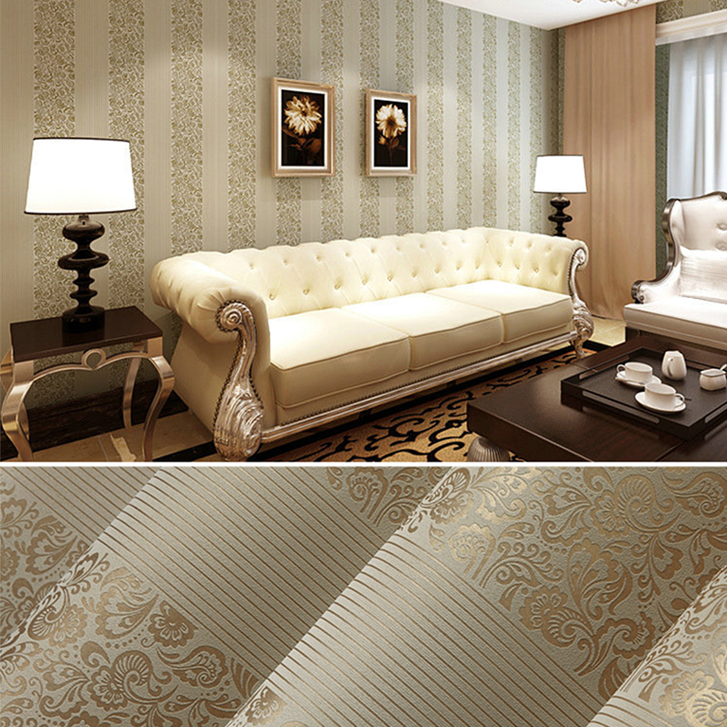 Modern Luxury Beige Blue Brown Textured Plaid Wallpaper For Walls 3 D Bedroom Living Room Sofa Home Decor Mural Wall Paper Rolls in Wallpapers from Home Improvement