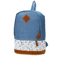9096P Women Backpack For School Teenager Girls Flowers Printed Nylon Travel Backpacks Casual