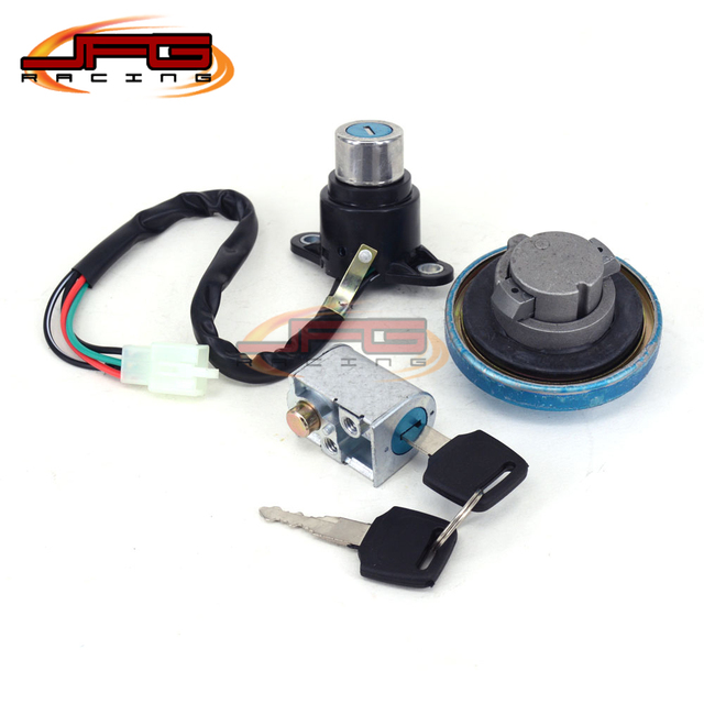 Lockset Ignition Key Switch Fuel Gas Cap Lock Keys For Honda REBEL 250 CMX250 CMX450 MAGNA 250 All Years