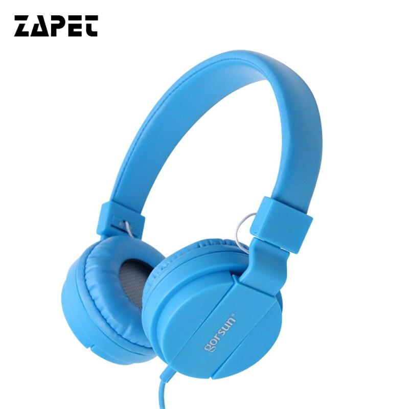Auriculares con cable ZAPET auriculares bajos profundos Auriculares auriculares para juegos con 3,5mm AUX plegable portátil ajustable para teléfono PC