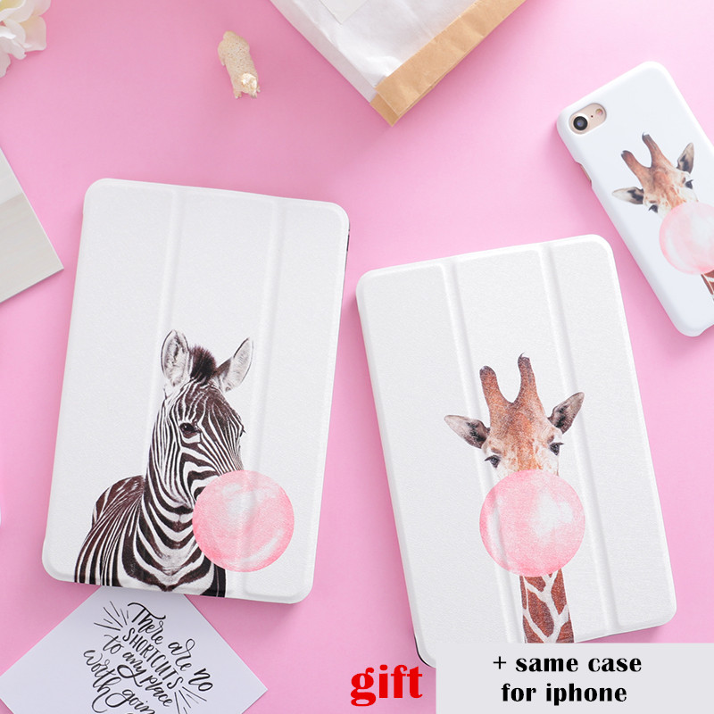 Zebra Horse PU Leather Transparent PC Back Flip Smart Cover case for iPad  mini 1 2 3 4 air air2 Pro 9.7 10.5 2017 Tablet case for ipad air 2 air 1 case for apple ipad mini 1 2 3 smart cover pu leather glitter silicone soft back case for ipad air coque