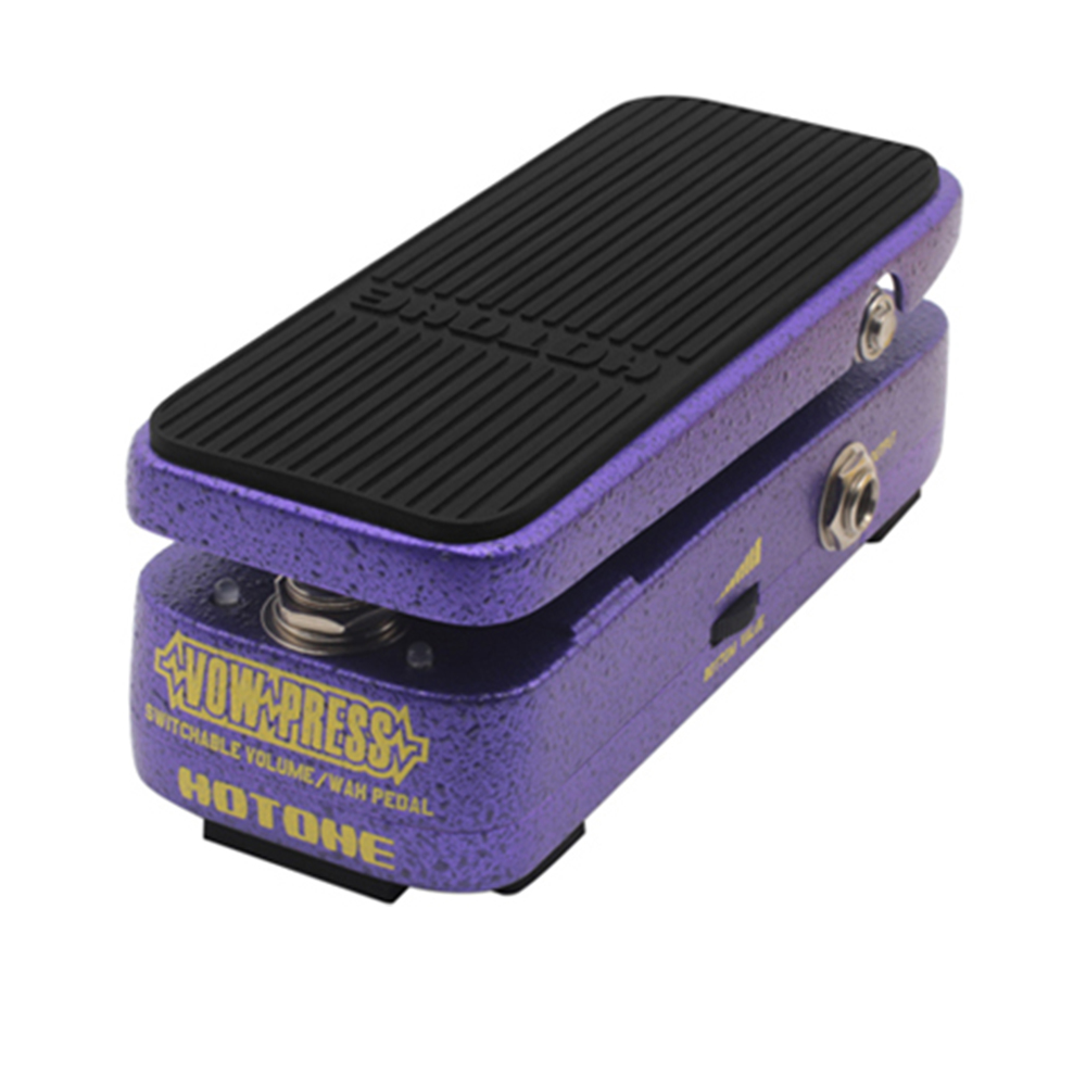 Hotone Vow Press Electric Guitar Effect Switchable Volume /Wah Pedal hotone soul press volume expression wah wah guitar pedal cry baby sound