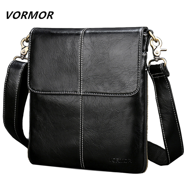 Vormor Leather Men Bag Fashion Crossbody Shoulder Messenger Bags Small Casual Designer Handbags
