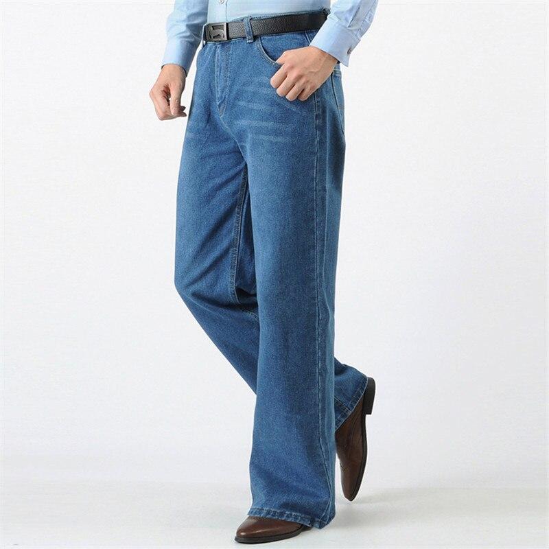 Européen un américain nouveau Jeans mode grande botte coupe jambe pantalon lâche taille haute évasée Jeans homme grande taille 36 38 40