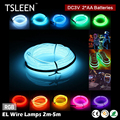 TSLEEN 2/3/5m EL Wire Battery Powered Flexible LED Neon Light Strip Tube Rope+Controller