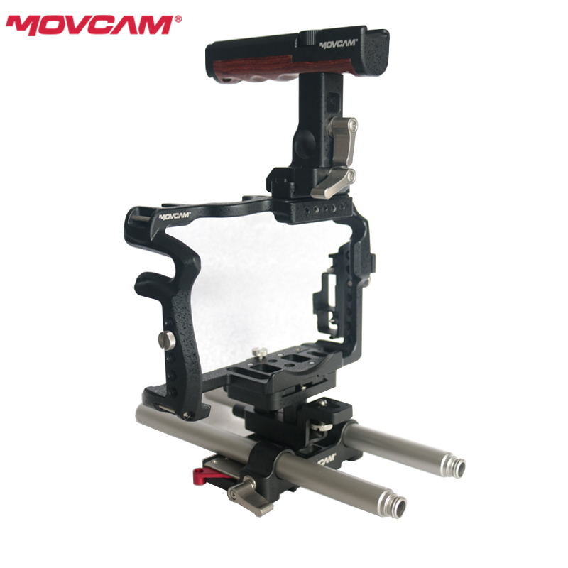 MOVCAM GH5 Rig cage kit for Panasonic GH4 GH5 Camera 15mm rod quick release Base Top handle HDMI Cable protect DHL Free shipping free shipping ptfe stir rod for overhead stirrer