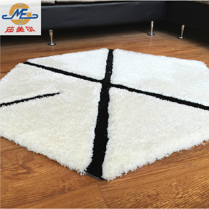 Polygon trend carpet floor mats personalized fashion Longhaired home decor den entrance living room coffee table carpet
