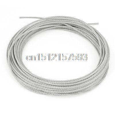 Grinding Machine 7x7 3mm Dia Stainless Steel Flexible Wire Rope 32.8Ft 2 5mm 7 7 marine 7 x 7 flexible stainless steel sailboat wire rope cable