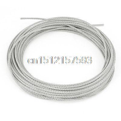 Grinding Machine 7x7 3mm Dia Stainless Steel Flexible Wire Rope 32.8Ft 3mm 7 7 stainless steel 316 wire rope 7x7 strand core seaworthy marine grade