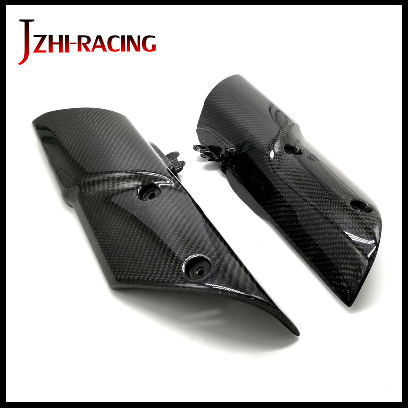 FOR Z1000 2010 2012 2013 Motorcycle Accessories Fairing Carbon Fiber Shock Absorber Side guard CoverFOR Z1000 2010 2012 2013 Motorcycle Accessories Fairing Carbon Fiber Shock Absorber Side guard Cover