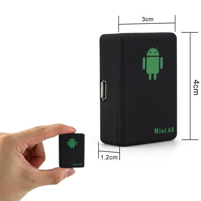 Mini A8 Rastreador Veicular GPRS Tracker Localisation En Temps Réel De Voiture Enfants Animaux GSM/GPRS/LBS Suivi Adaptateur Haute qualité A8 Mini