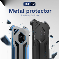 R JUST Gundam Series Metal Bumper for SAMSUNG Galaxy S9 S9 PLUS S8 S8 plus Armor Doom Aluminum Shell Case For Samsung NOTE 8