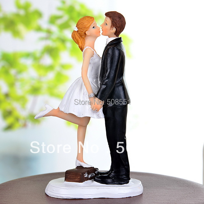 A Kiss And We Re Off Cake Topper