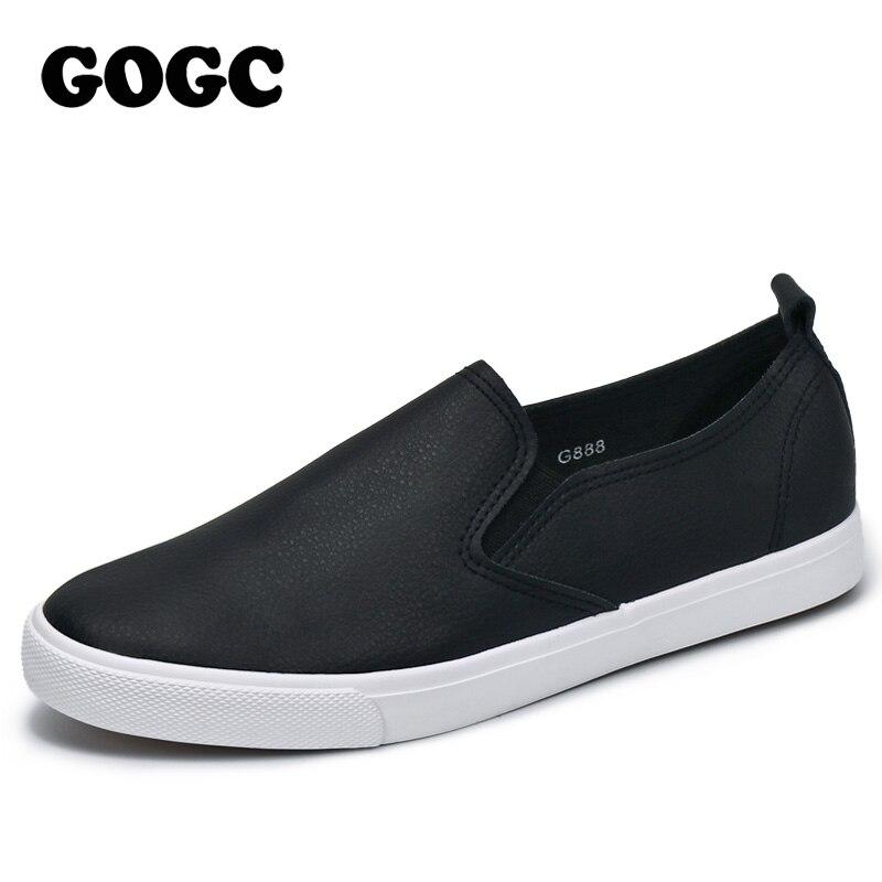 GOGC Femmes Slipony Respirant En Cuir Glissement sur des Chaussures Plates Femmes Haute Qualité Respirant Femmes Chaussures Femme Chaussures de Causalité Mocassins