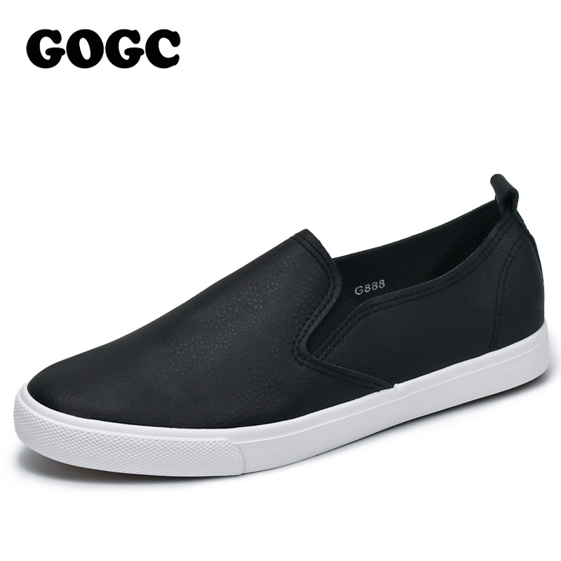 GOGC Women Slipony Breathable Leather Slip on Flat Shoes Women High Quality Breathable Women Shoes Female Causal Shoes Loafer 2017 new women shoes fashion stud canvas shoes women causal shoes comfortable slip on shoes for women slipony ag11