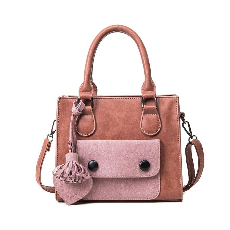 ФОТО Bag 2017 autumn and winter new design version handbag hit color female package fashion tassel shoulder bag Messenger bag
